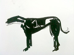 sketch of greyhound