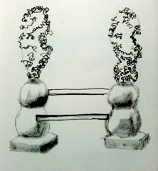 sketch of sculpture