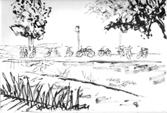 sketch of VONDELPARK