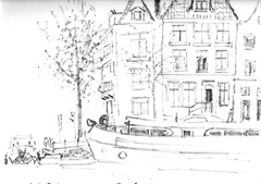 sketch of CANAL TOUR AMSTERDAM