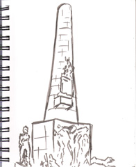 sketch of DAM SQUARE