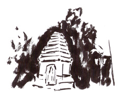 sketch of Sukathai Historical Park