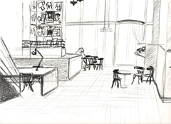 sketch of Cafe de Jaren