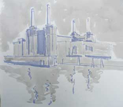 sketch of Battersea Power Station
