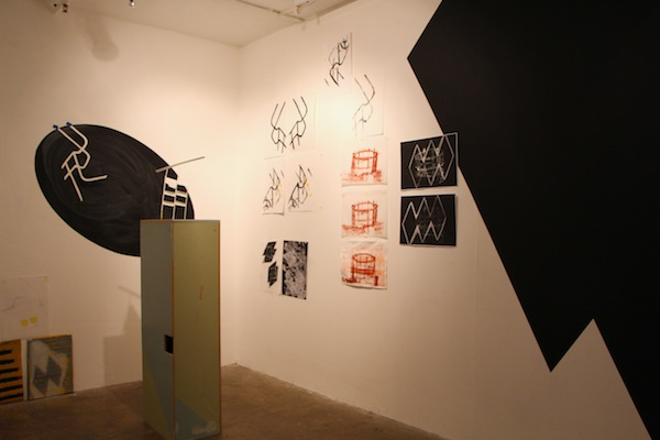 Installation view of A Plotted Affair